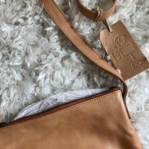 Leather crossbody (never used)